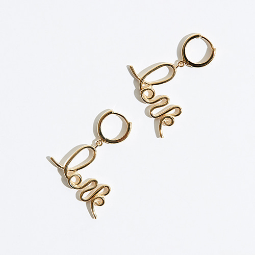 Love earring 3 (GOLD)