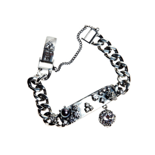 Bar drop cubic chain bracelet